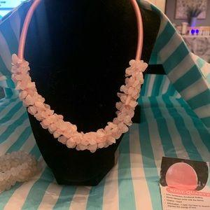 Rose quartz necklace & bracelet